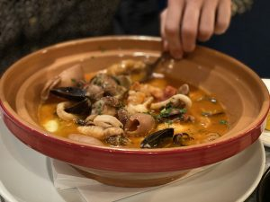 Fish stew in bowl